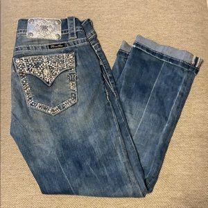 Miss Me Buckle Cropped Jeans